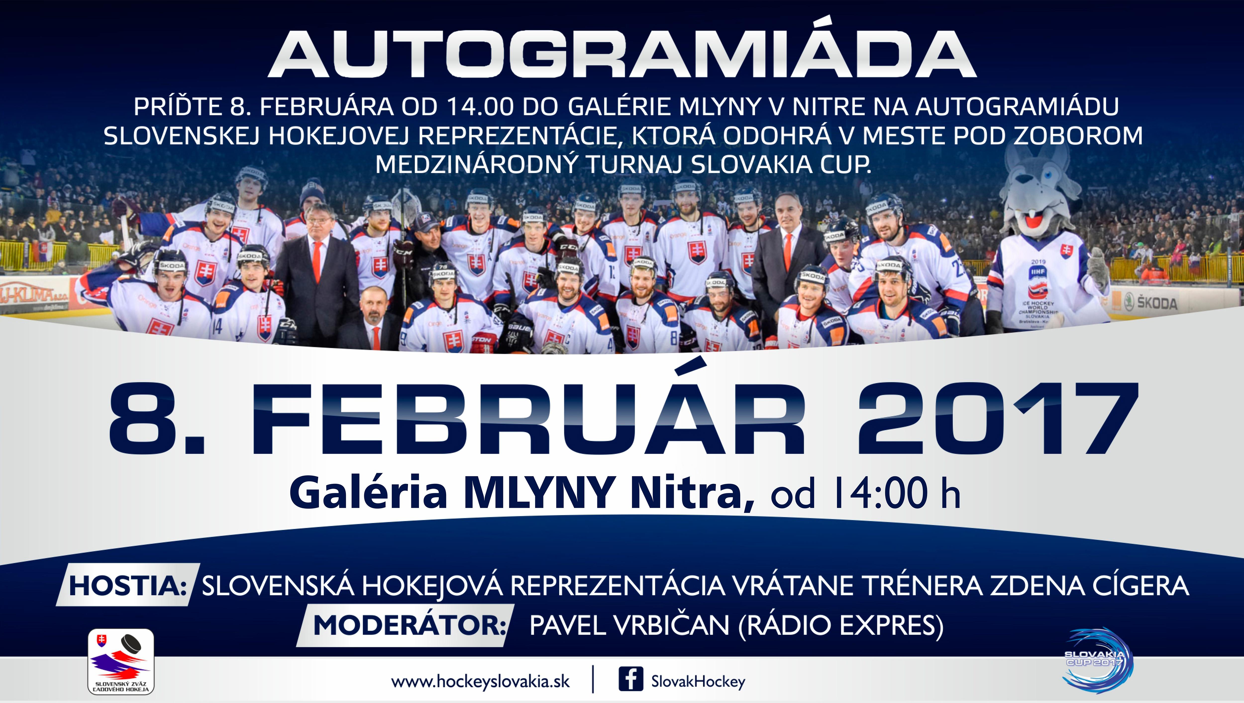 c29b29b72 Autogramiáda slovenskej hokejovej reprezent - Kam v meste | moja Nitra